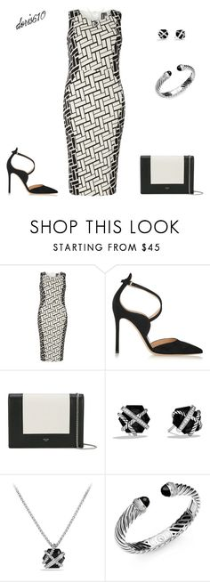 """""""Untitled #1683"""" by doris610 ❤ liked on Polyvore featuring Izabel London, Gianvito Rossi, CÉLINE and David Yurman"""