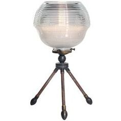 Tripod Holophane Table Lamp