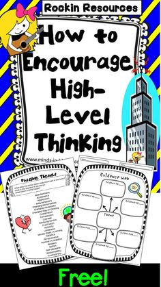FREE IDEA: What is an effective way to get your students thinking at a deeper level? Let me share what works well for my students on a blog post at Minds in Bloom! After you read the post and you think it will fit well with your class, there will be a link to download a whole unit or you can grab the free theme printables!