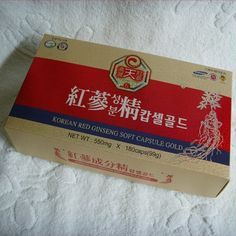 KOREAN RED  GINSENG SOFT CAPSULE [550mg*180caps] / Vigor  recovery  ! #KOREANREDGINSENG