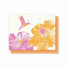 All Occasion Hummingbird Hibiscus - 5 Pack  Availability: Usually Ships in 3-5 business days  Let this bright and cheerful hummingbird deliver a message to someone you care about!  Each card is embedded with a colorful array of Wildflower seeds. www.finegifts.labellabaskets.com