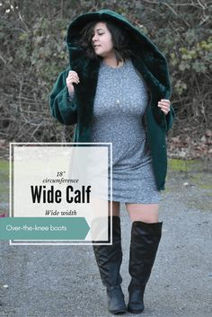 Plus size wide calf boots are so hard to find! These over-the-knee wide calf AND wide width boots are great for winter