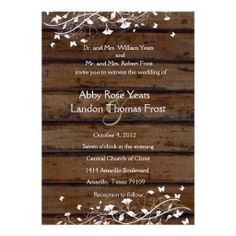 >>>The best place          Dark Brown Wood, White Floral Wedding Invitation           Dark Brown Wood, White Floral Wedding Invitation you will get best price offer lowest prices or diccount couponeThis Deals          Dark Brown Wood, White Floral Wedding Invitation today easy to Shops & Pu...Cleck Hot Deals >>> http://www.zazzle.com/dark_brown_wood_white_floral_wedding_invitation-161555308161857310?rf=238627982471231924&zbar=1&tc=terrest