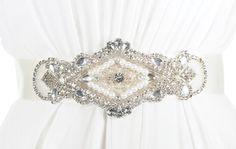 Bridal Sash Crystal Sash  HADLEY by KirstenKuehnDesigns on Etsy, $75.00