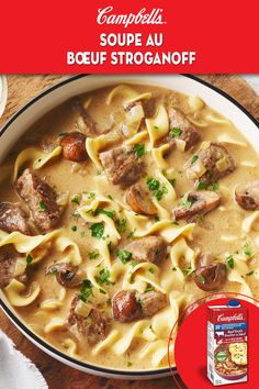 Beef Stroganoff Soup A soupy twist on this classic dish makes the perfect weeknight recipe. - A soupy twist on this classic dish makes the perfect weeknight recipe. Beef Recipes, Cooking Recipes, Healthy Recipes, Oven Cooking, Cooking Oil, Cooking Twine, Healthy Rice, Dinner Healthy, Cooking Light