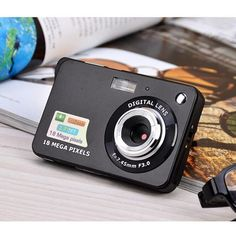 Inch Ultra-thin 18 MP HD Digital Camera Video Camera Student Digital Cameras For Kids Best Gift Digital Lenses, Digital Cameras, Focus Images, Camera World, Plastic Items, Point And Shoot Camera, Sports Party, Focal Length, Names
