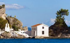 The islet of Panagia, Parga Epirus Greece, Island, Mansions, Country, House Styles, Landscapes, Home Decor, Christian Louboutin Shoes, Greece Country