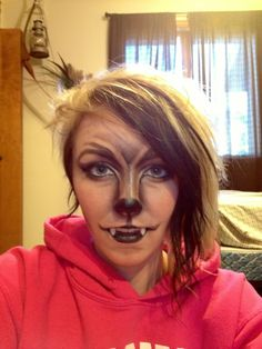 werewolf makeup for Halloween! Bat Makeup, Costume Makeup, Ideas Maquillaje Carnaval, Halloween Fun, Halloween Costumes, Teen Costumes, Woman Costumes, Couple Costumes, Pirate Costumes