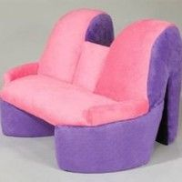 High Heel Storage Chair Red Black
