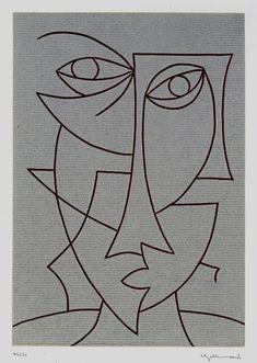 Doodle Art Drawing, Art Drawings, Cubist Art, Abstract Face Art, Picasso Art, Indian Art Paintings, Art Moderne, Mosaic Art, Pattern Art