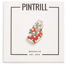 PINTRILL 'Bikini' Fashion Accessory Pin (550 PHP) ❤ liked on Polyvore featuring jewelry, brooches, red, evening jewelry, red brooch, special occasion jewelry, red jewelry and beachy jewelry