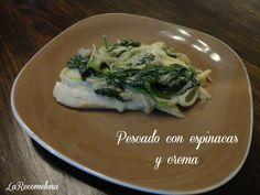 Pescado con espinacas y crema. Una receta muy fácil de hacer. Da click en la imagen y ve el paso a paso #LaRecomelona #FoodBlogger #México #BloggerMexicana #MexicanBlogger