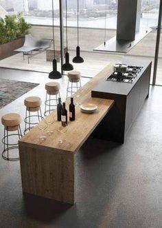 10 Stupefying Minimalist Furniture Clutter  Ideas Kitchen Room Design, Outdoor Kitchen Design, Kitchen Layout, Home Decor Kitchen, Interior Design Kitchen, New Kitchen, Home Kitchens, Kitchen Designs, Kitchen Ideas