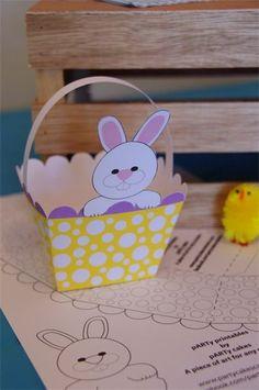 Freebie Friday: Printable Easter Basket | Easter baskets, Easter and ...