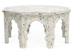 Sold before I even got to the site. I want this so bad! One Kings Lane - Furniture Bazaar - Bone Inlay Octagonal Table