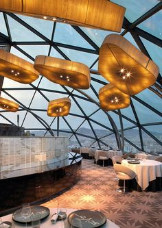 Restaurant Evo, Barcelona, Spain | Restaurant Interior Design Ideas. Restaurant Lighting Ideas. Restaurant Dining Chairs. #restaurantinterior #restaurantinteriors www.brabbucontract.com