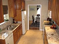 The finished, remodeled kitchen