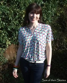 Easy to sew summer top from jersey fabric