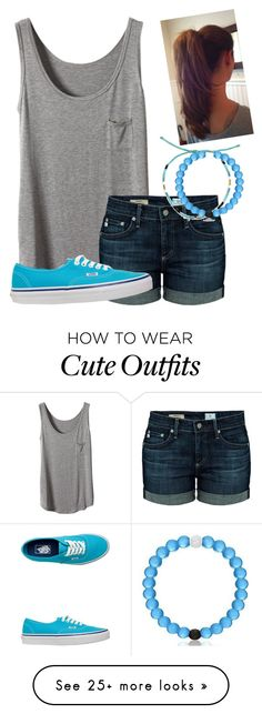 """Idek just a simple outfit"" by twaayy on Polyvore featuring AG Adriano Goldschmied, Pura Vida, Everest, Vans, women's clothing, women, female, woman, misses and juniors"