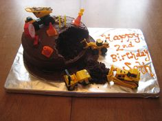 Seth loved his trucks! Love Him, Trucks, Cakes, Desserts, Food, Tailgate Desserts, Scan Bran Cake, Kuchen, Dessert