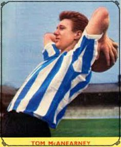 Tom McAnearney of Sheffield Wed in 1956.