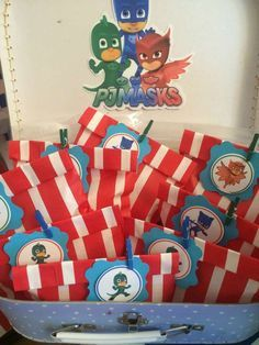 PJ Masks birthday party favors! See more party ideas at CatchMyParty.com!