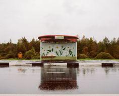 painted belarus bus stop