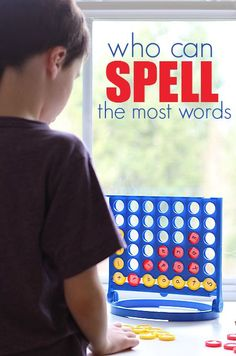 Word work with 'connect 4' game = FUN!