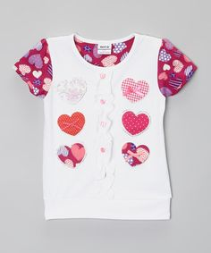 Loving this White Heart Tee - Infant, Toddler & Girls on #zulily! #zulilyfinds