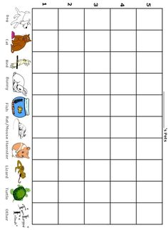 How Many Pets Do I Have - Free Printable Preschool/Kindergarten Graph