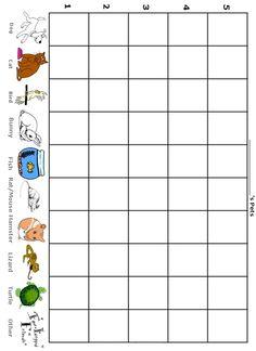 How Many Pets Do I Have - Free Printable Preschool/Kindergarten Graph