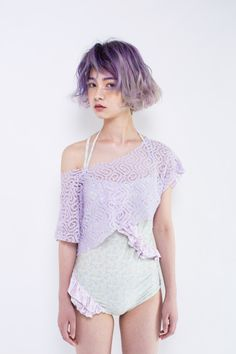 Lavender My Hairstyle, Curled Hairstyles, Hairstyles Haircuts, Quirky Fashion, Look Fashion, Nyc Girl, Unicorn Hair, Dye My Hair, Creative Hairstyles