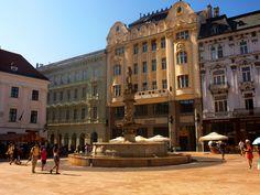 Old Town Square in Bratislava