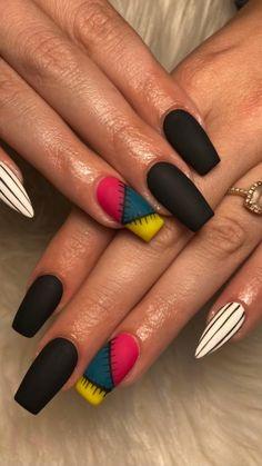 Holloween Nails, Halloween Acrylic Nails, Summer Acrylic Nails, Best Acrylic Nails, Acrylic Nail Designs, Disney Halloween Nails, Halloween Nail Colors, Halloween Nail Designs, Nail Art Designs