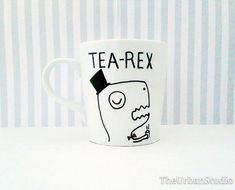 TEA REX Mug Personal / Family / Friend by TheUrbanStudio on Etsy
