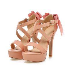 Chinois doux style cool d'été sandales mode bowknot ceinture boucle plate forme beige rose noir bleu à talons hauts de femmes chaussures dans Femmes de Sandales de Chaussures sur AliExpress.com | Alibaba Group
