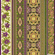 Holiday Flourish 5 - Festive Elegance Stripe - Amethyst/Gold