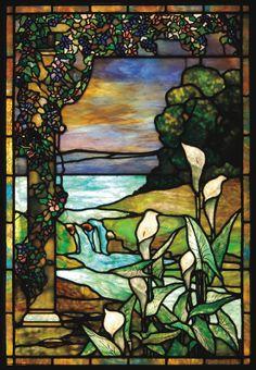 Tiffany Studios LILY stained glass window