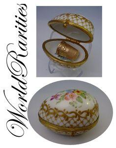 Antique Sevres Porcelain Thimble Holder
