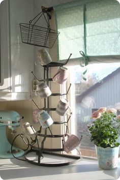 Love this French bottle drying rack!