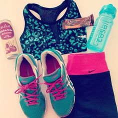 Nike, asics. Sport outfit, workout.