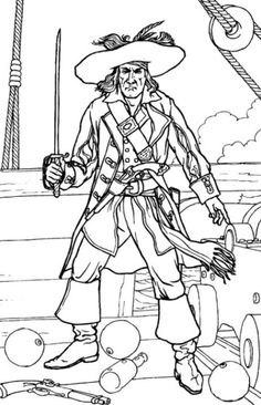 Kids Under Pirates Coloring Pages