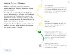 提供:Google - Inactive Account Manager: what to do with your Google account and data after it becomes inactive due to death or other