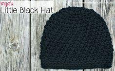 Myas Little Black Hat Free Crochet Pattern #crochet, thanks so xox