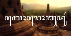 Javanese Font: Aturra by Aditya Bayu Perdana, via Behance
