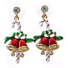 Candy Cane Christmas Jingle Bells Earrings Gift Stuffers Post Stud Enamel Winter Jewelry Soulbreezecollection http://www.amazon.com/dp/B00N5E1LQK/ref=cm_sw_r_pi_dp_NkdZwb1K61MB8