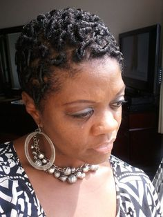 My first try with coiling - Short hair styles, Updos, Female, Adult hair, 4c Hairstyle Picture