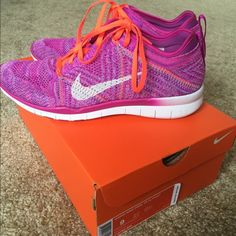 Nike free TR flyknit In perfect condition w/ box. worn only once to the gym. Color in photos is accurate. fits true to size.  no trades Nike Shoes Sneakers
