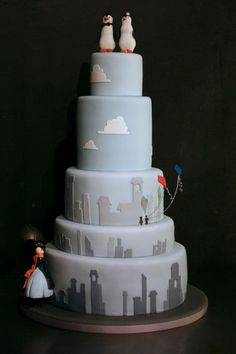 Mary Poppins wedding cake-now that is awesome! I wouldn't want to eat it!!