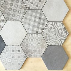 New Hexagon || Colour Block + Pattern Blend #tiles #hexagon #tile #tileciti